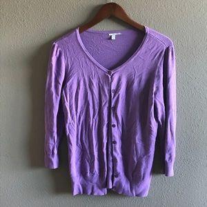 Light purple cardigan sweater